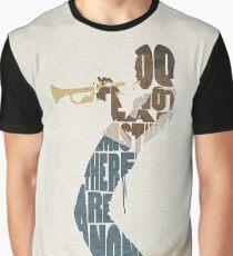 Typographic and Minimalist Miles Davis Illustration Graphic T-Shirt