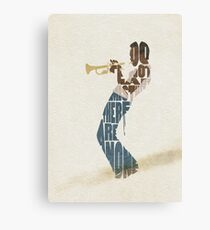 Typographic and Minimalist Miles Davis Illustration Canvas Print