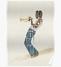 Typographic and Minimalist Miles Davis Illustration Poster