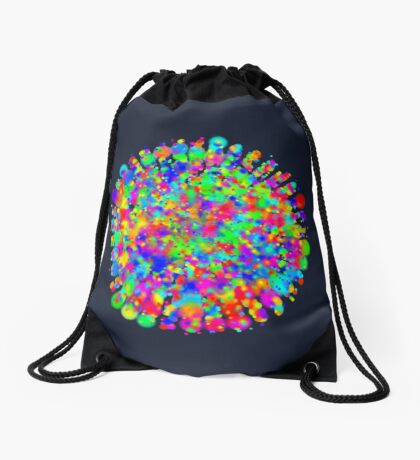 Space color splash Drawstring Bag