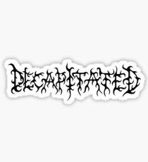 Band Decapitated Logo Black  Sticker