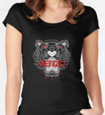 kenzo paris tiger - black Women's Fitted Scoop T-Shirt
