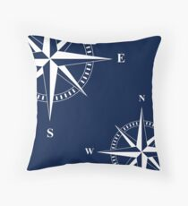 Nautischer Stern | Kompass | Maritim | Nautische Dekoration Throw Pillow