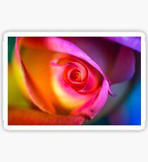 RED ROSE RAINBOW Sticker