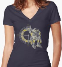 Chrono Robo Women's Fitted V-Neck T-Shirt