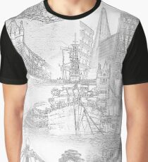 London Icons - Line Drawings Graphic T-Shirt