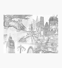 London Icons - Line Drawings Photographic Print