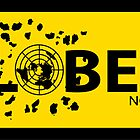 GLOBEXIT BLACK and YELLOW Stickers by GLOBEXIT