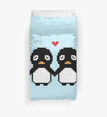 Pixel Penguin Duvet Cover