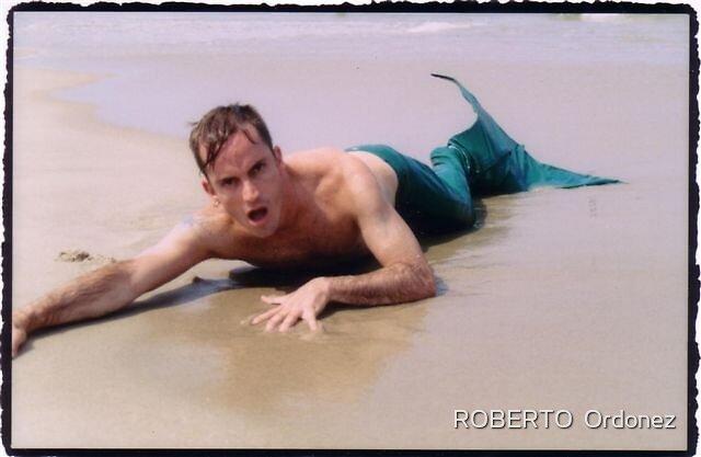 merman at beach by Robert Ordonez