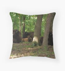 Well protected baby Throw Pillow