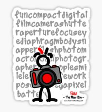 Red - The New Guy - funcompactdigitalcamera .. Sticker