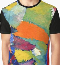 Abstract Low Poly Polygon Multi Color Cubism Triangle Design Graphic T-Shirt