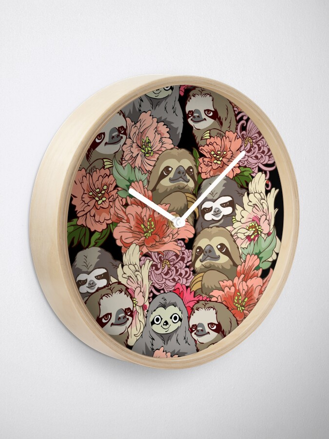 Alternate view of Because Sloths Clock
