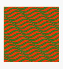 Red and Green Waves Photographic Print