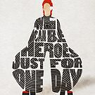 Typographic and Minimalist David Bowie Illustration by A Deniz Akerman