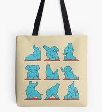 Elephant Yoga Tote Bag