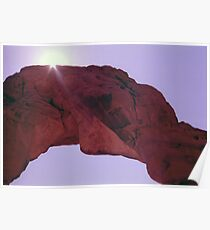 Delicate Arch Abstract Poster