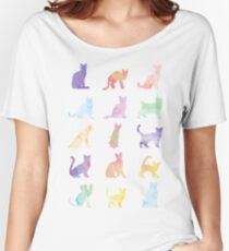 Watercolor Cats Women's Relaxed Fit T-Shirt