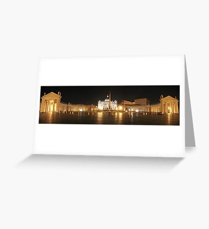 Panorama of St. Peter's Basilica, Vatican, Rome Greeting Card