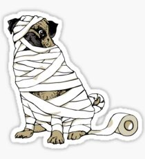 The Mummy Pug Return Sticker