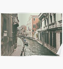 Venice canal in Italy Poster