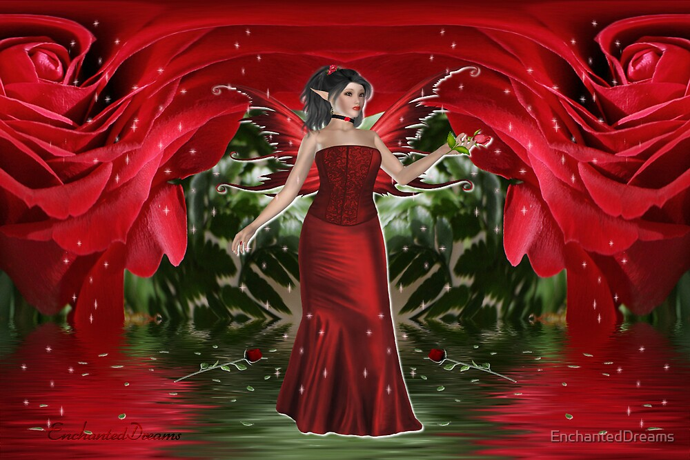 The Rose Fairy by EnchantedDreams