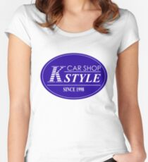 K-STYLE Women's Fitted Scoop T-Shirt
