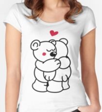 Teddys in love Women's Fitted Scoop T-Shirt
