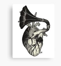 Musical heart. Canvas Print