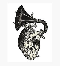 Musical heart. Photographic Print