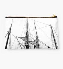 Masts in St Katharine Docks Studio Pouch