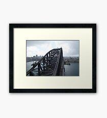 Sydney Harbour Bridge Pylon Framed Print