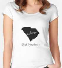 South Carolina USA States Women's Fitted Scoop T-Shirt
