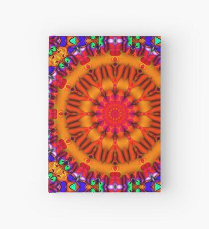 Psychedelic Happy Hippie Mandala Hardcover Journal