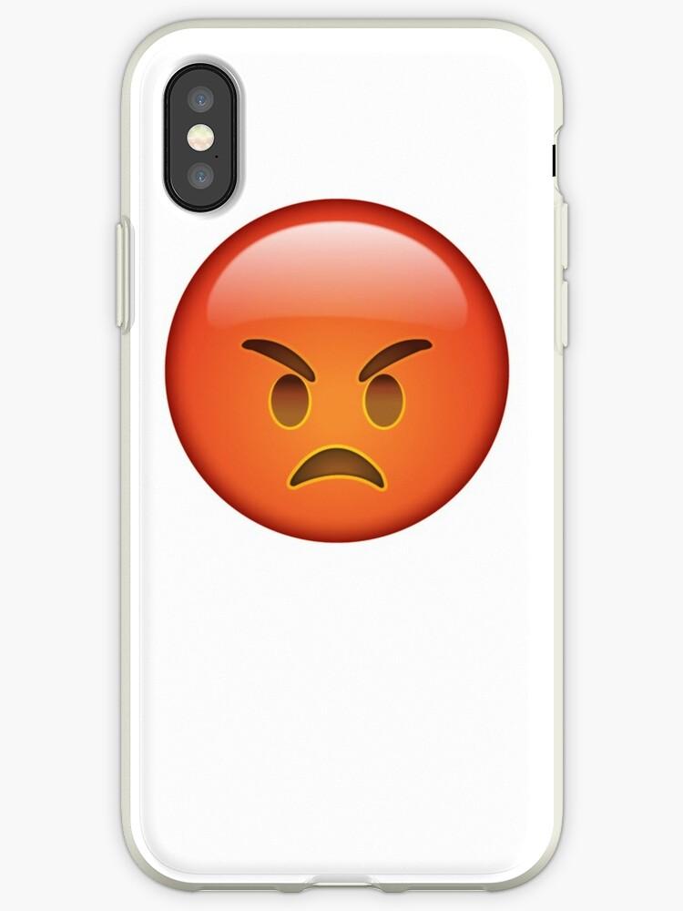 Coque Et Skin Adhésive Iphone Emoji Très En Colère Par Printpress