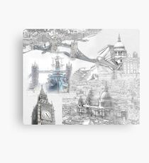 London Iconic Locations Metal Print