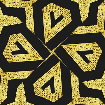 Edgy Gold Black Pattern by webgrrl