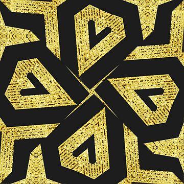 Edgy Gold Black Pattern by webgrrl