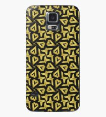 Edgy Gold Black Pattern Case/Skin for Samsung Galaxy