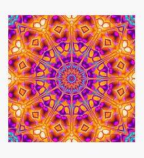 V1 Trippy Hippy Geometric Mandala Photographic Print