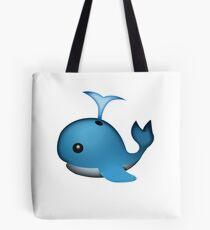 Cute Spouting Whale Emoji Tote Bag