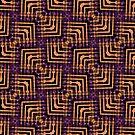 Orange Purple Pattern Hallow-One by webgrrl