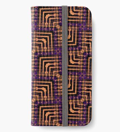 Orange Purple Pattern Hallow-One iPhone Wallet
