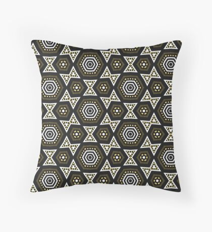BWG Funky Hexagon Pattern Throw Pillow