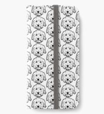 Goldendoodles! Adorable doodle dogs in black and white iPhone Wallet/Case/Skin
