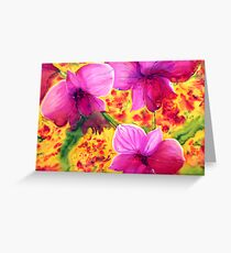 Cooktown Orchid Greeting Card