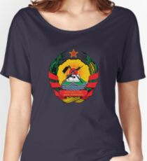 Mozambique Coat of Arms Women's Relaxed Fit T-Shirt