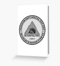 #COINTELTRO FEPE BADGE Greeting Card