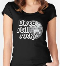 Disco Still Sucks Funny Gift T-Shirt Women's Fitted Scoop T-Shirt